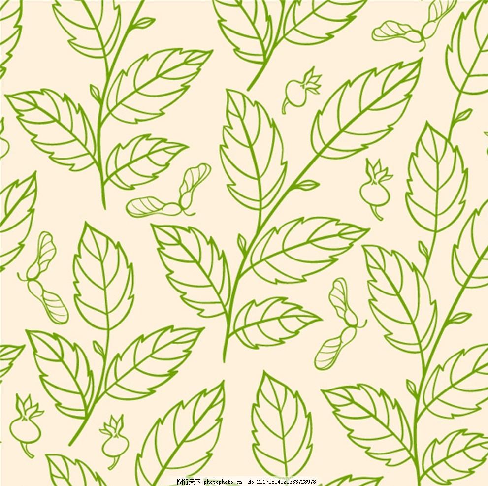 树枝 线条花纹 黑色花纹 墙纸 树叶底纹 底纹花纹 矢量素材 藤蔓花纹