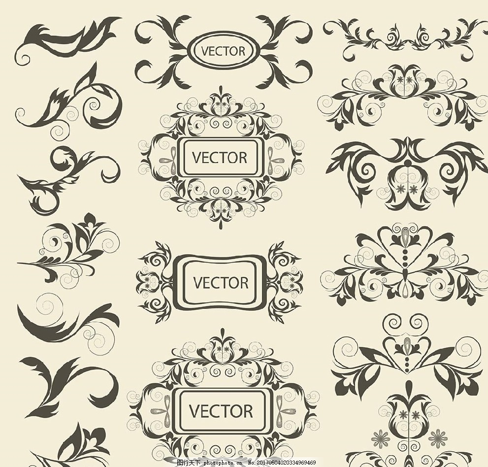 欧式花纹 花纹素材 边框 边条 线条装饰 装饰线条 房地产 欧式 精美线