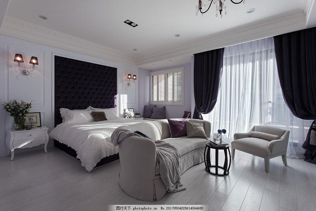 简约卧室沙发落地窗设计图 家居 家居生活 室内设计 装修 室内 家具
