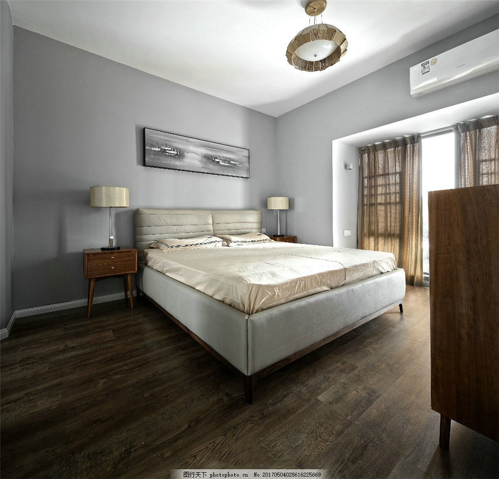 北欧现代卧室装修效果图 室内设计 家装效果图 北欧家装效果图 时尚