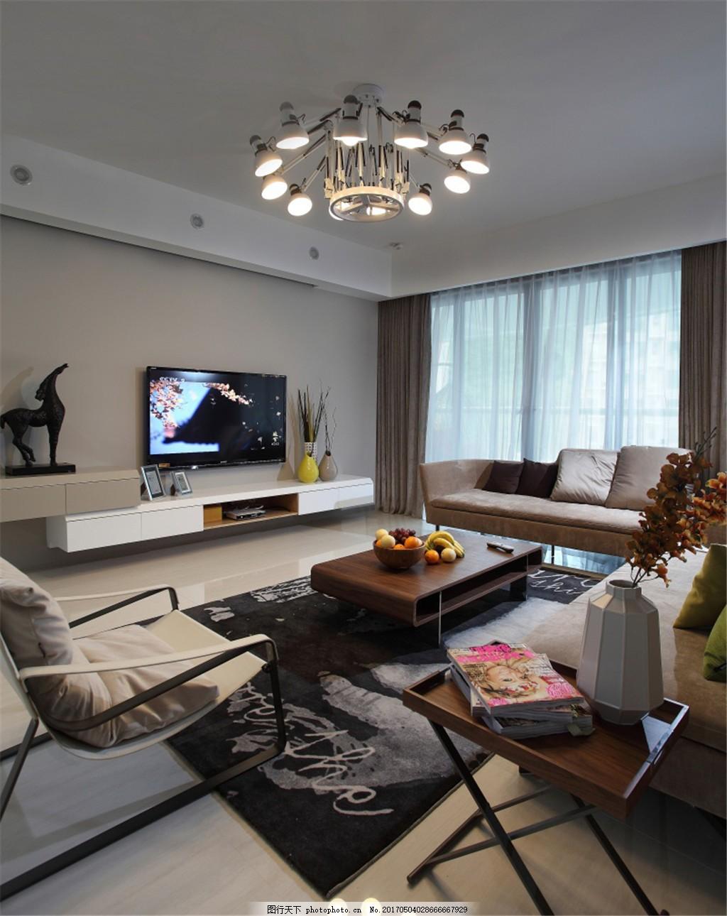 北欧现代客厅装修效果图