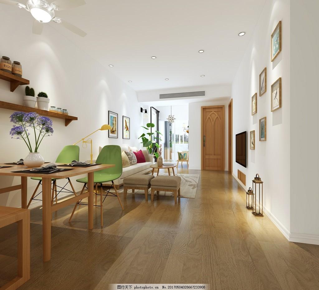 中式客厅简装效果图 室内设计 家装效果图 现代装修效果图 时尚