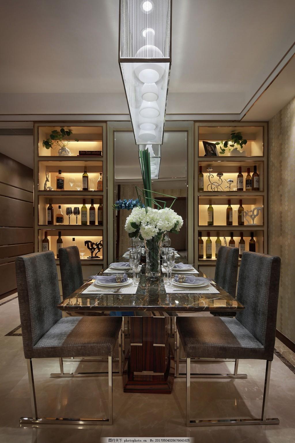 时尚餐厅餐桌酒柜设计图 家居 家居生活 室内设计 装修 室内 家具
