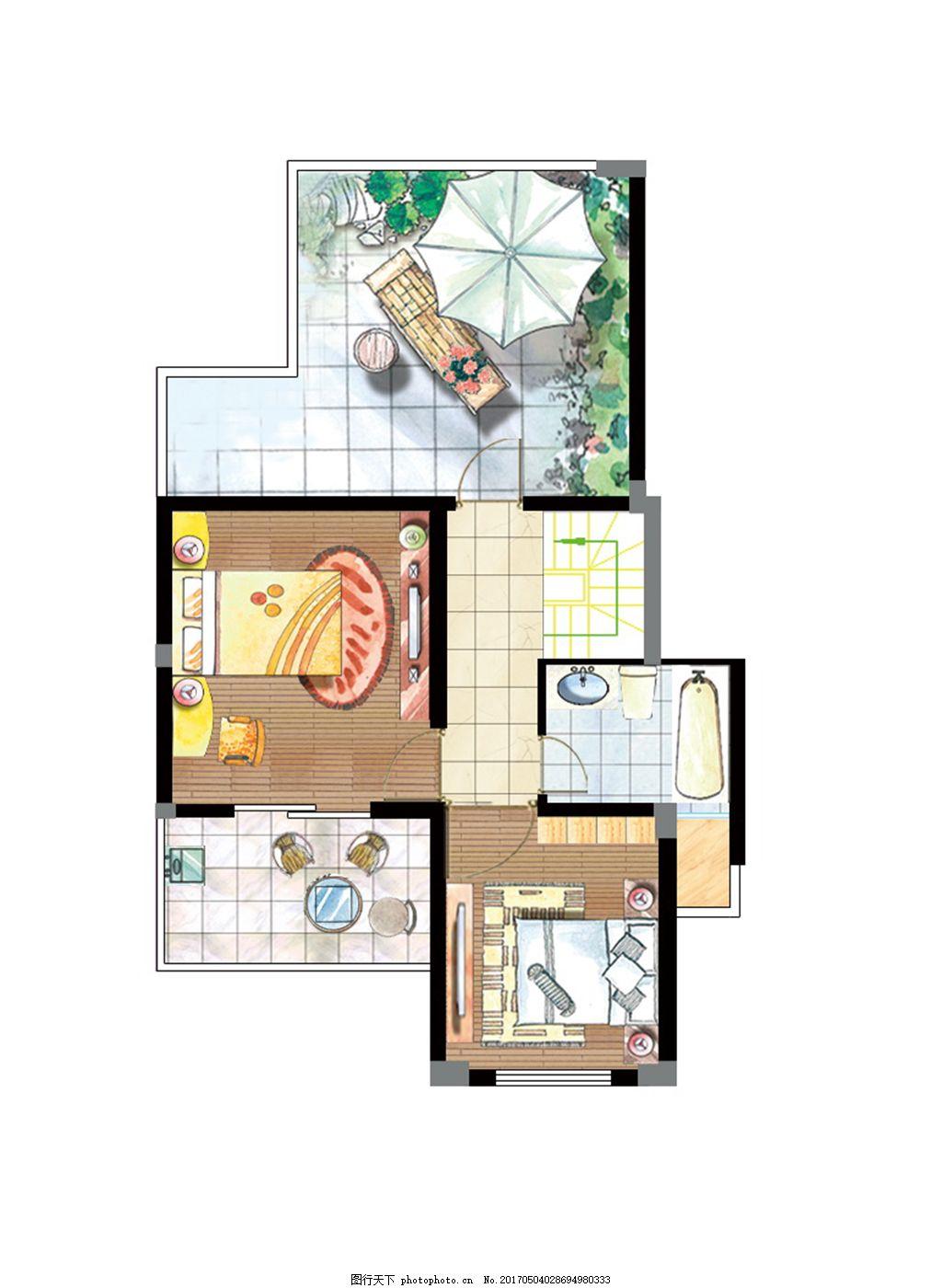 室内设计户型图平面图 室内户型图 家装平面图 手绘平面图 家居