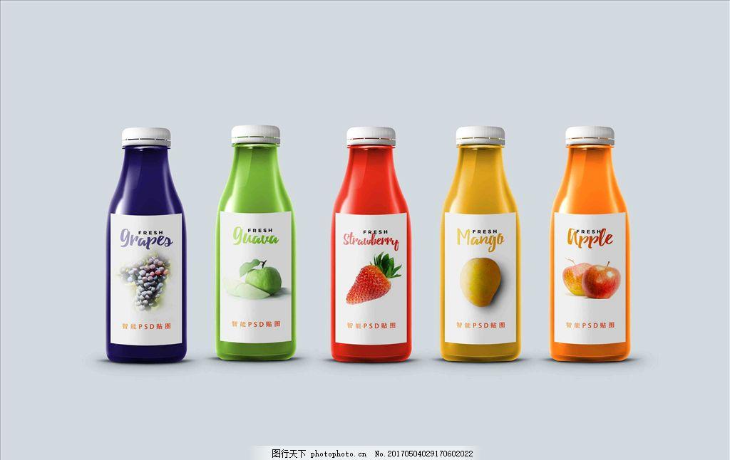 水果瓶子包装设计