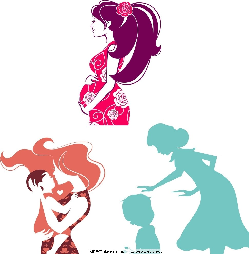 母子 孕妇 妈妈和孩子 妈妈抱着孩子 孕妈 母亲和孩子 母婴 关爱 关心
