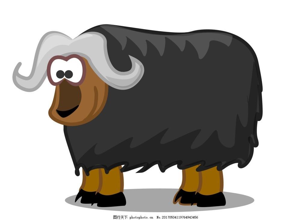 矢量卡通公牛eps 可爱的卡通动物 矢量素材图片下载 可爱 卡通 动物