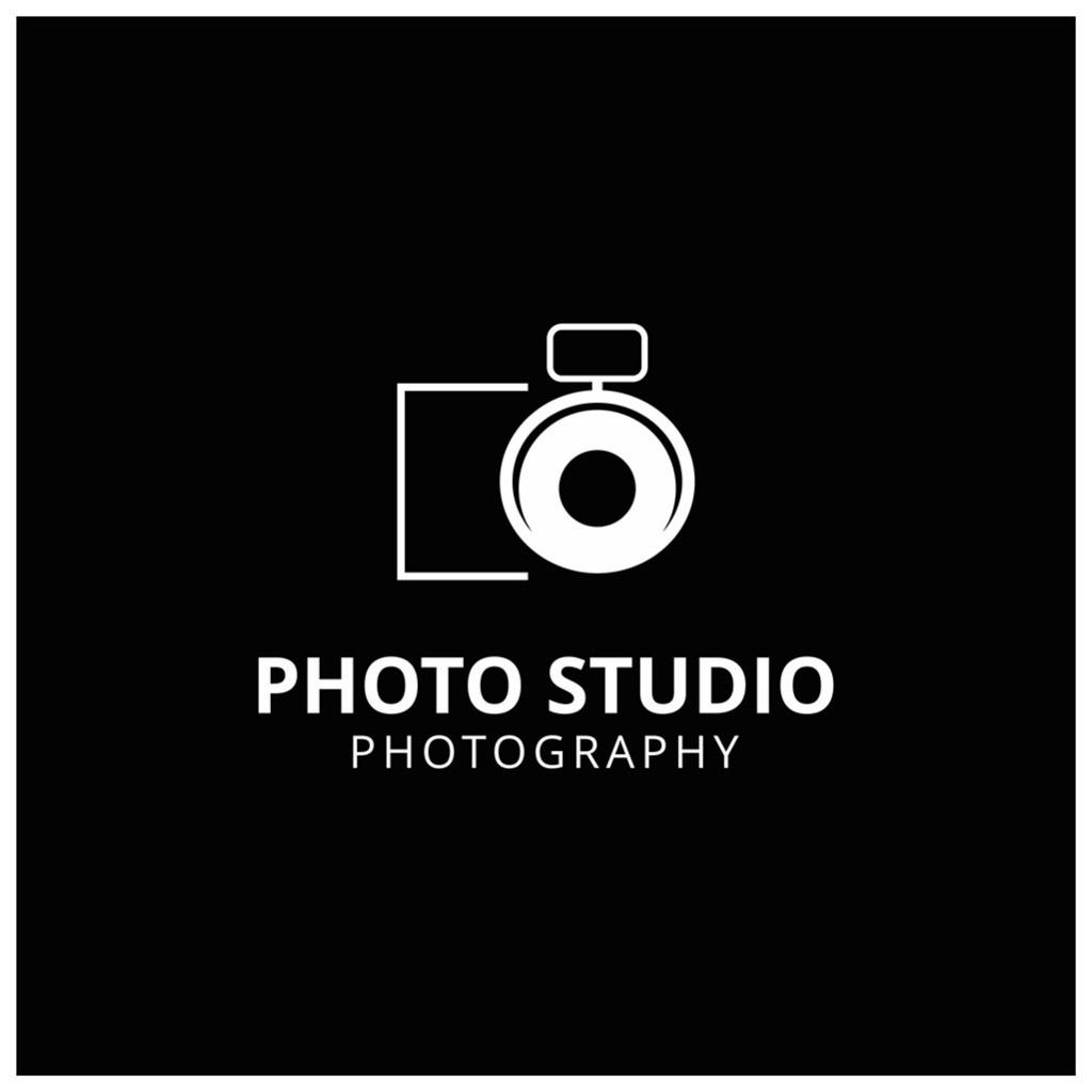 黑色背景摄影标志logo图片