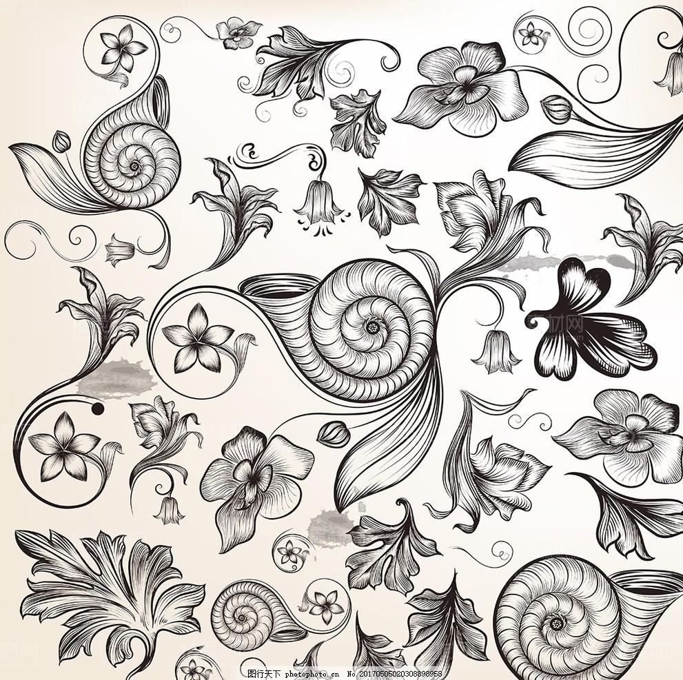 复古宫廷欧式花纹