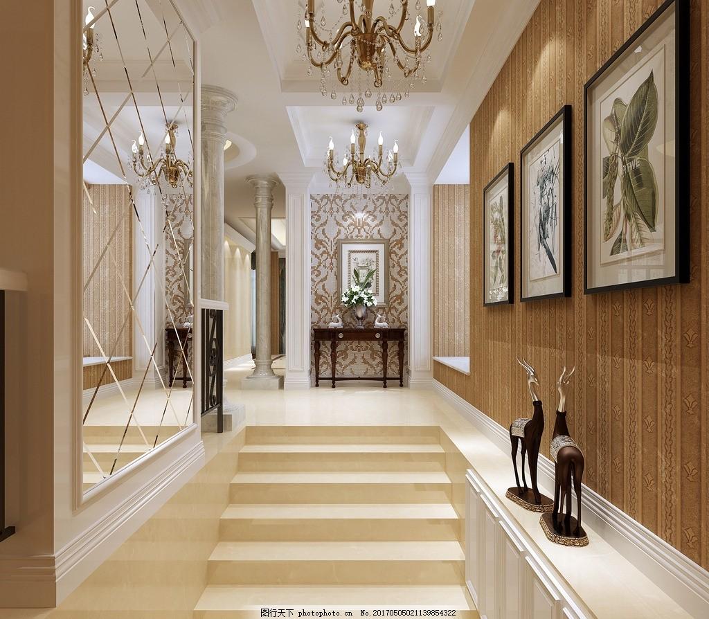 楼梯间过道,家装 工装 室内效果图 现代效果图 欧式图