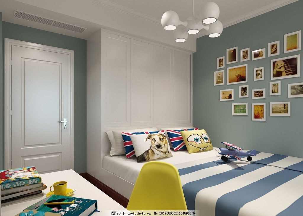 儿童房 家装 工装 室内效果图 现代效果图 欧式效果图 北欧效果图