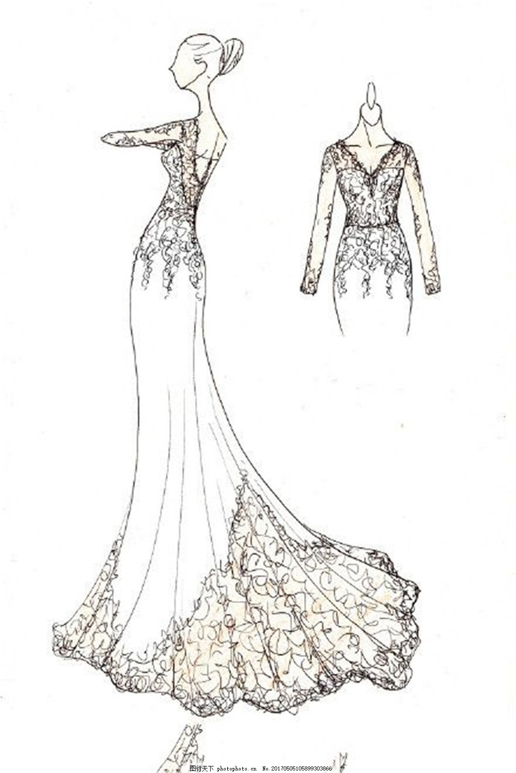 服装图片免费下载 女装设计 服装效果图 连衣裙 长裙 婚纱 礼服 手绘图片