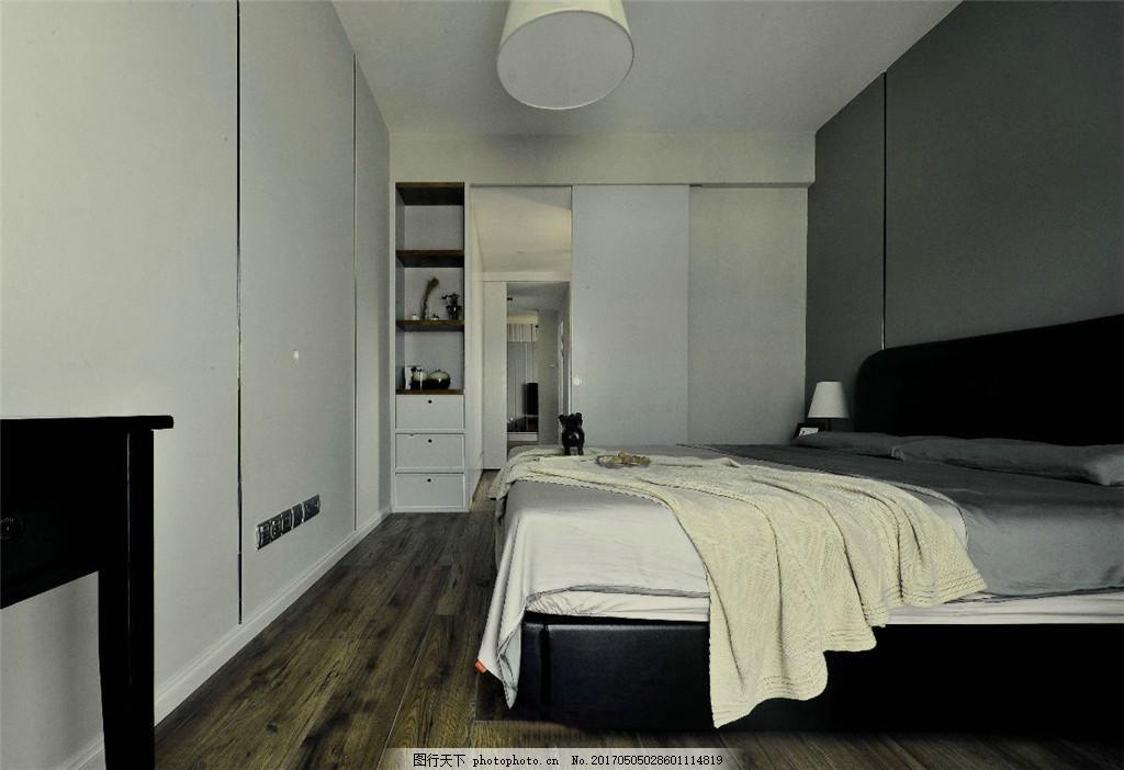 北欧简约卧室装修效果图 室内设计 家装效果图 北欧家装效果图 时尚
