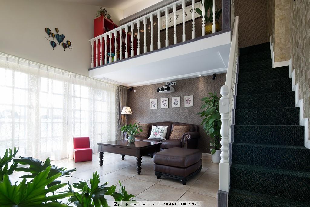 美式客厅背景墙设计图