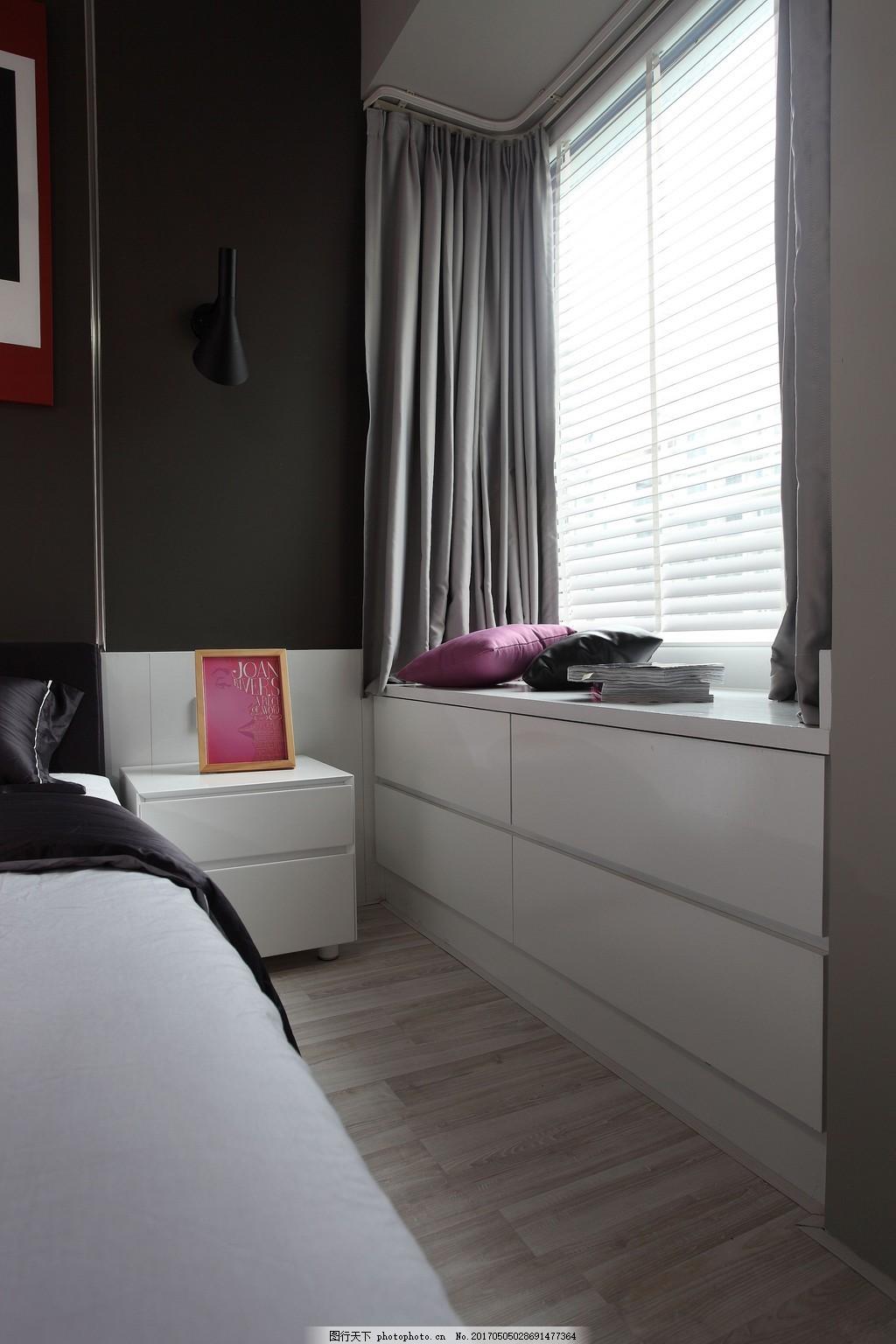 现代简约卧室柜子窗户设计图