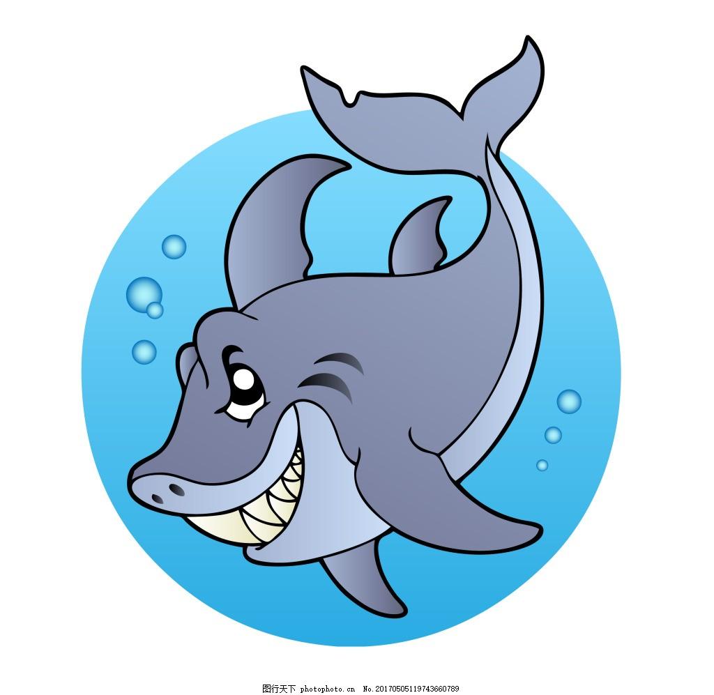 矢量卡通海底动物eps