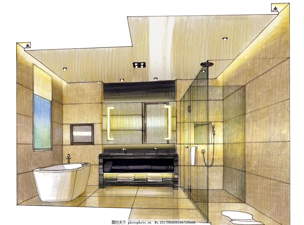 设计图库 动漫卡通 卡通动物  室内设计高清手绘图 室内设计 装饰设计