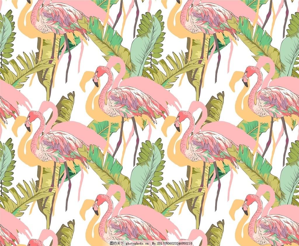 水彩装饰素材 手绘插画 水彩插画 森系背景 装饰叶片 丹顶鹤 广告设计