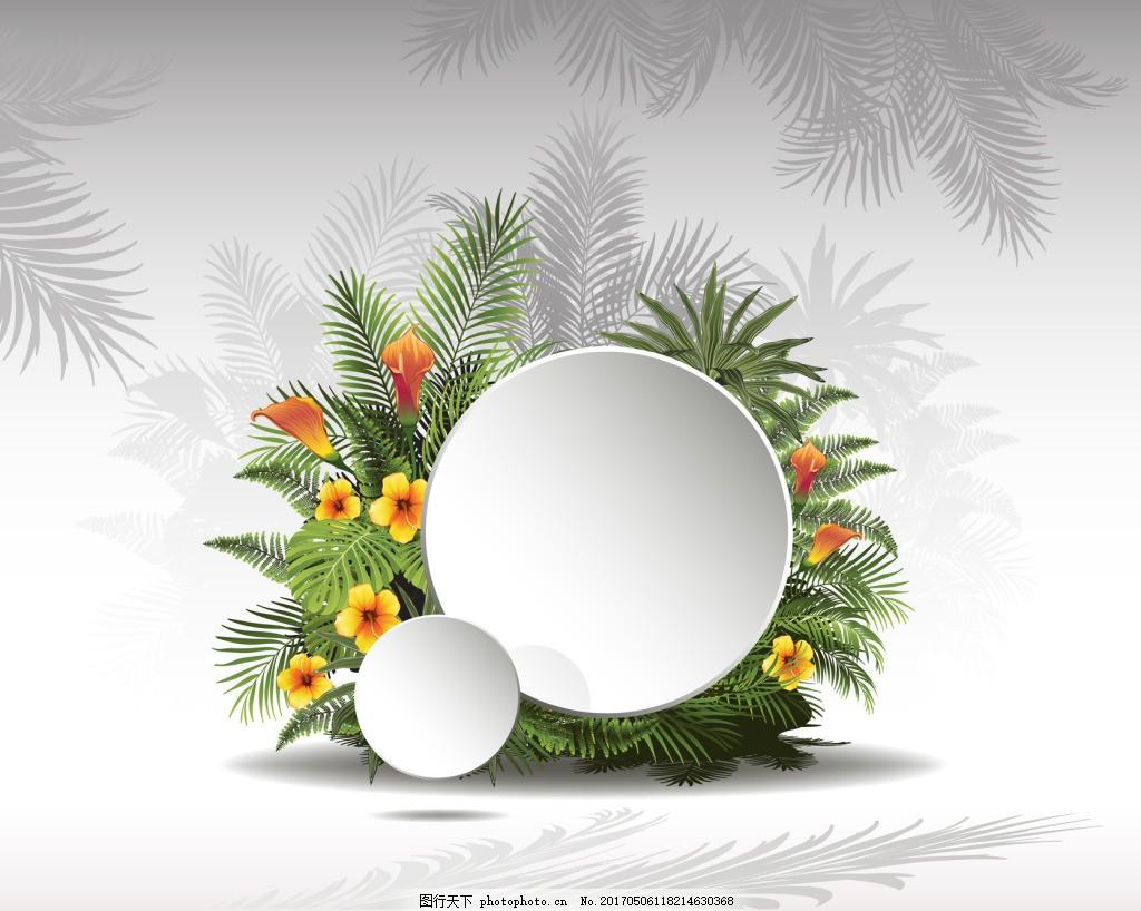 热带植物背景