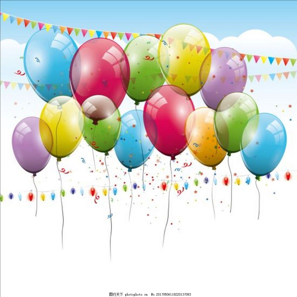 气球派对背景素材