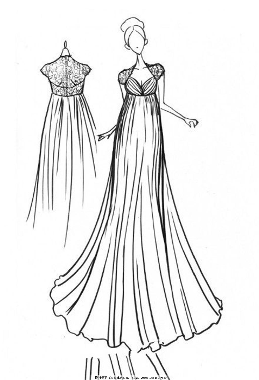 休闲礼服设计图
