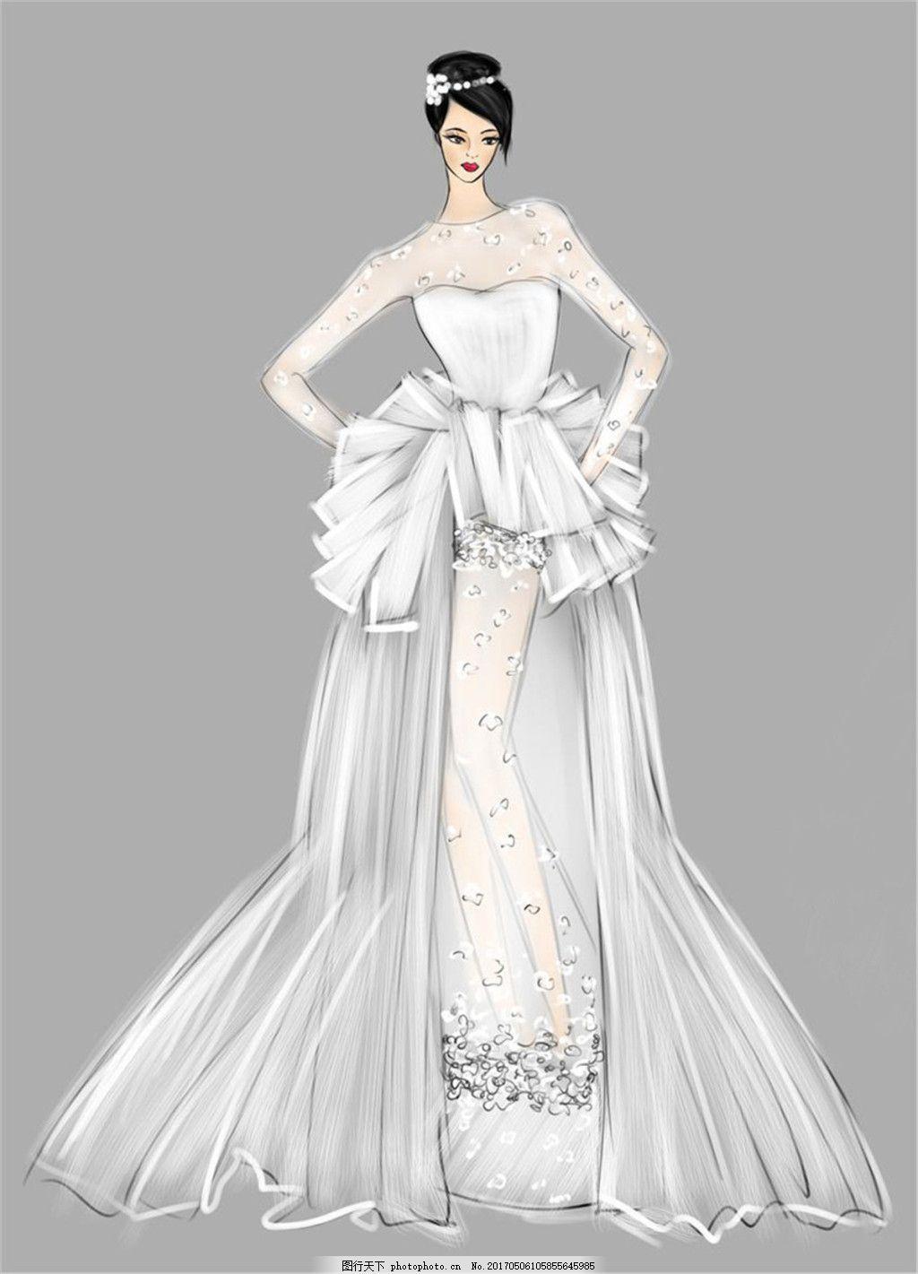 时尚婚纱礼服设计图