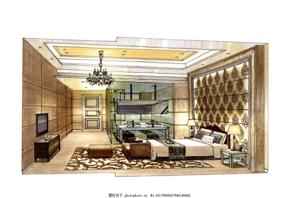 室内设计高清手绘图 装饰设计 家装设计 高清图 室内设计手绘图