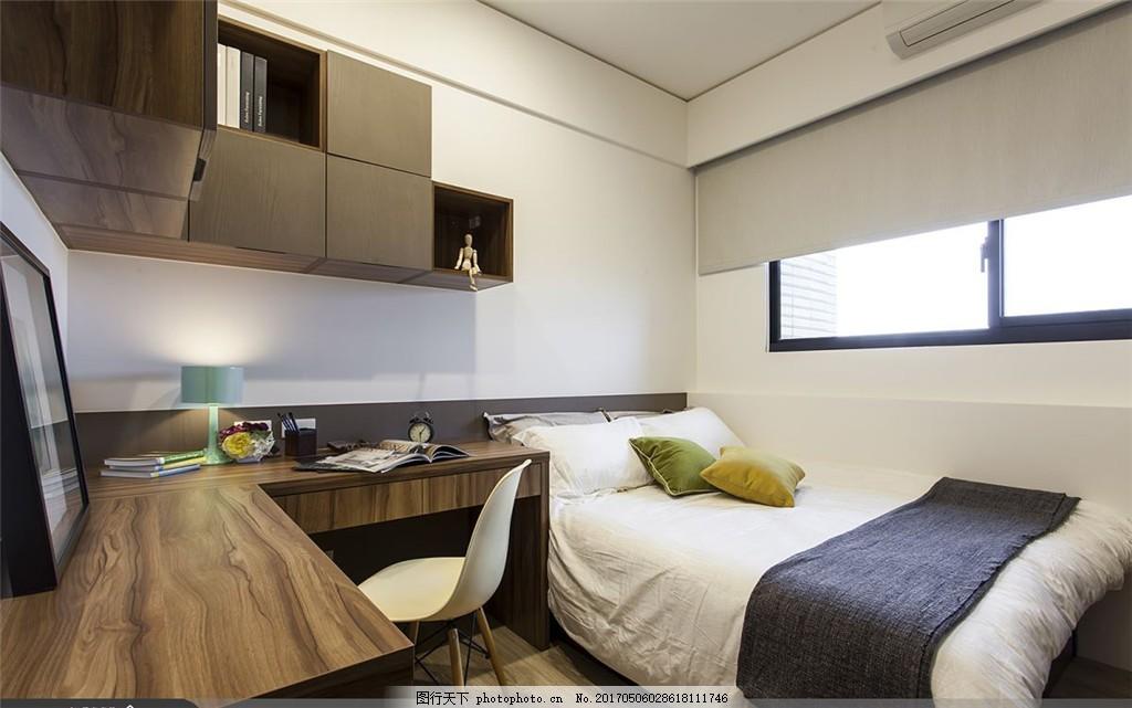 新中式卧室装修效果图 室内设计 家装效果图 现代装修效果图 时尚