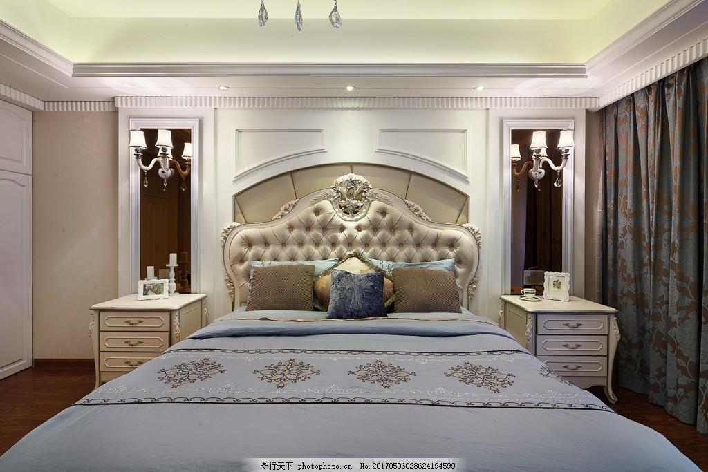 现代欧式卧室装修效果图图片