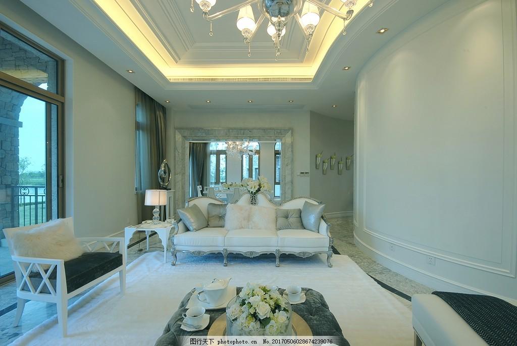 中式别墅客厅简装效果图 室内设计 家装效果图 现代装修效果图 时尚