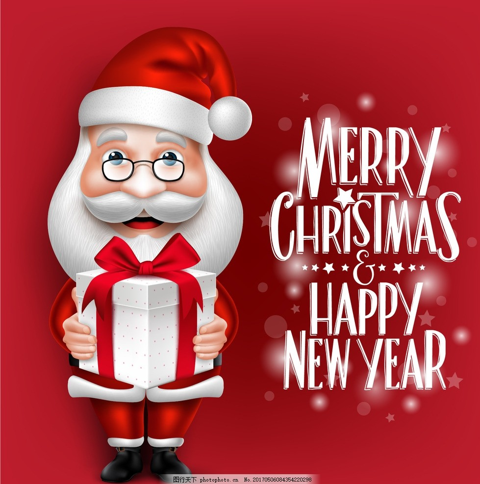 圣诞老人矢量 卡通人物 圣诞老人 圣诞快乐 新年快乐 圣诞素材 节日素