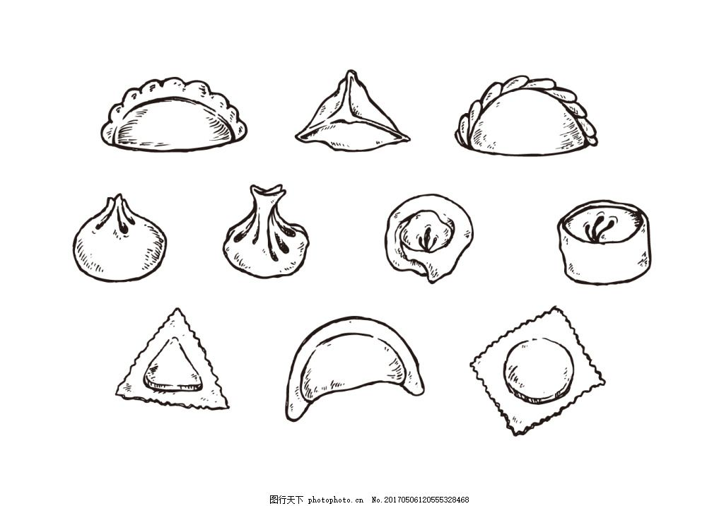 手绘饺子图标 饺子图标 手绘饺子 饺子 美食 食物 手绘食物 美食图标