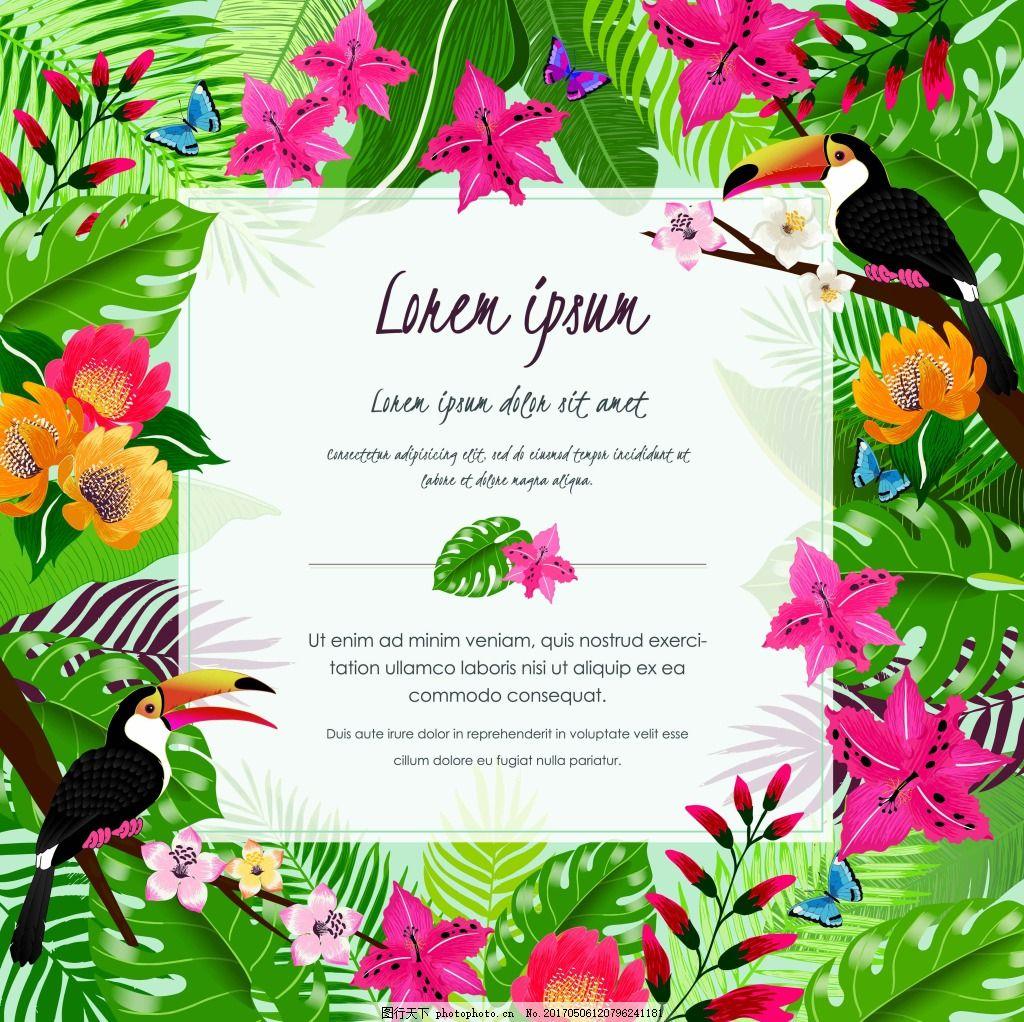 热带植物边框