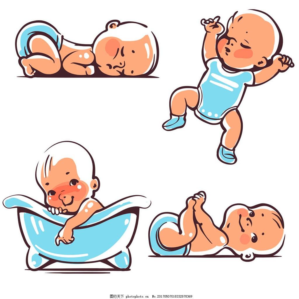 可爱宝宝漫画图片 卡通宝宝 婴幼儿 卡通婴儿 小孩子 宝宝漫画 儿童