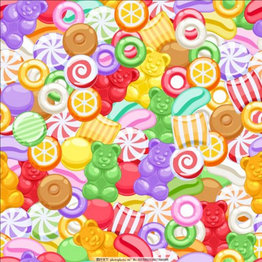 糖果背景素材 儿童 零食 矢量背景