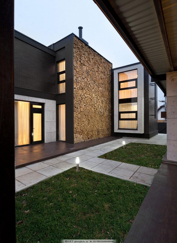 现代港式别墅效果图 建筑效果图 城堡 欧式建筑 现代别墅 室内设计