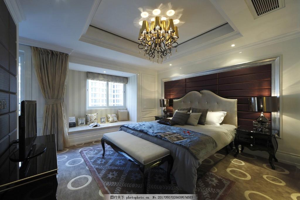 时尚卧室大床吊灯设计图 家居 家居生活 室内设计 装修 室内 家具