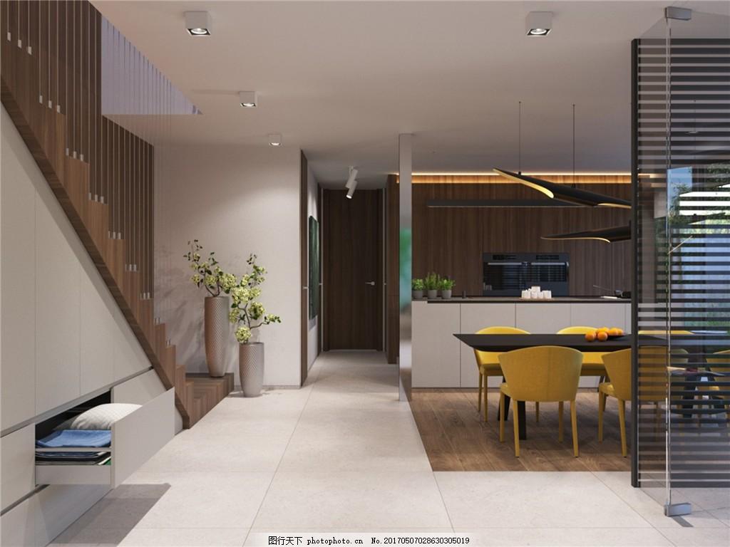 现代家居餐厅简装效果图 室内设计 家装效果图 欧式装修效果图 时尚