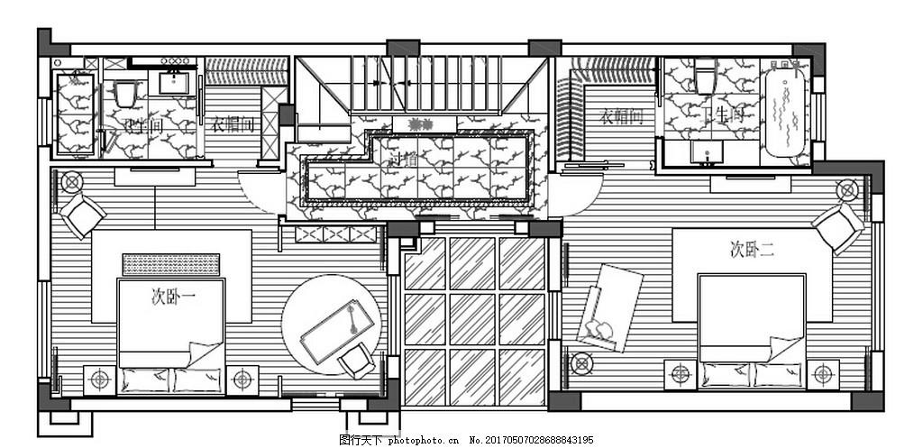 新中式时尚室内装修手稿设计图 家居 家居生活 室内设计 家具 装修图片