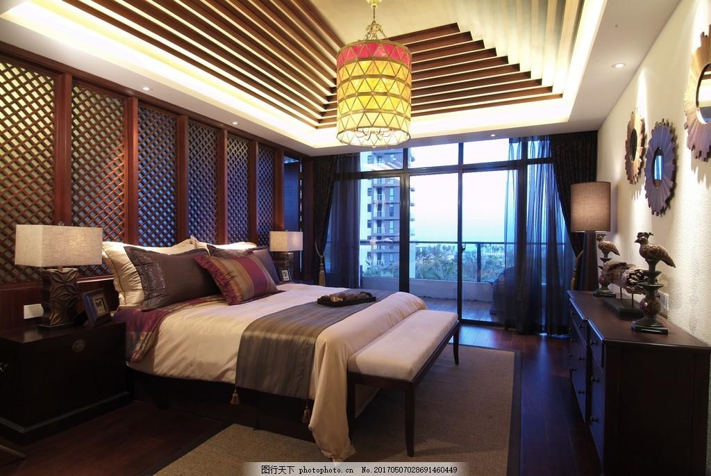 中式卧室装修效果图 室内设计 家装效果图 现代装修效果图 时尚 奢华