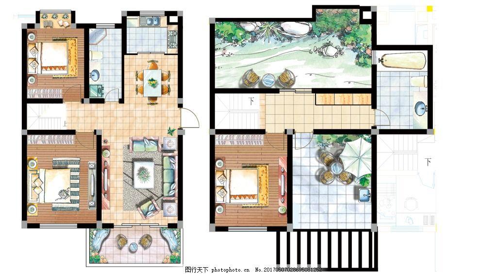 广告室内二层平面图,室内户型图室内设计手绘家装设计制作加盟图片