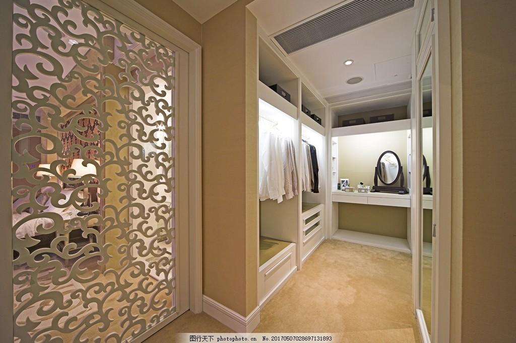 豪华别墅服装间简装效果图 室内设计 家装效果图 现代装修效果图 时尚