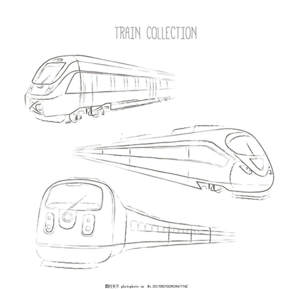 高铁简笔画步骤图