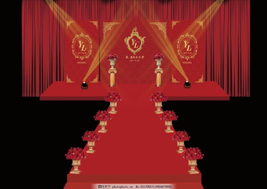 相框 欧式 素材 主题婚礼 psd素材 婚礼主背景 副背景 红色 金色 画框