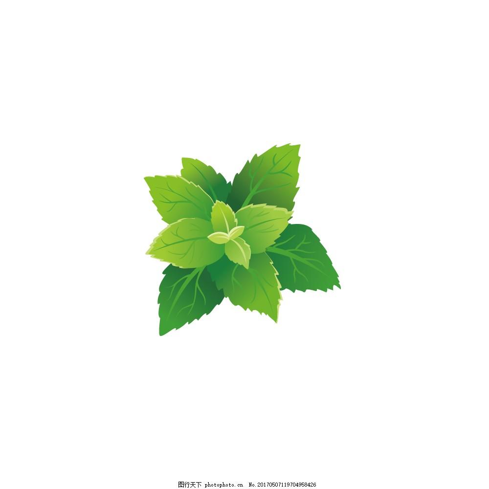 唯美手绘绿色植物