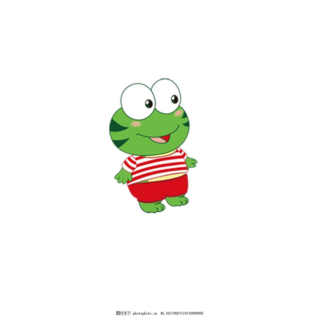 卡通青蛙 绿色青蛙 卡通 psd 免扣 大眼睛青蛙