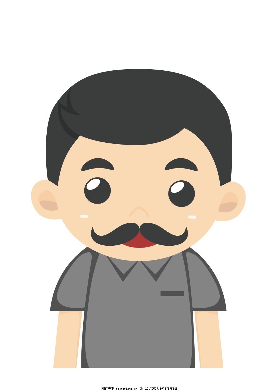 矢量卡通大叔EPS,卡通人物图标图片下载 工作