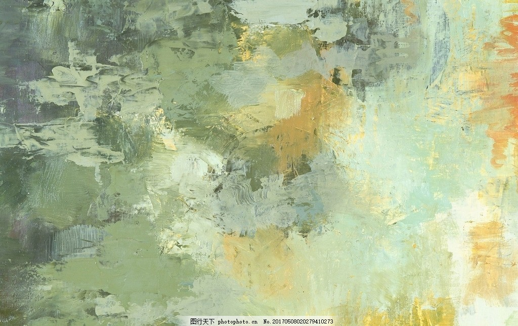 笔触清晰的风景油画