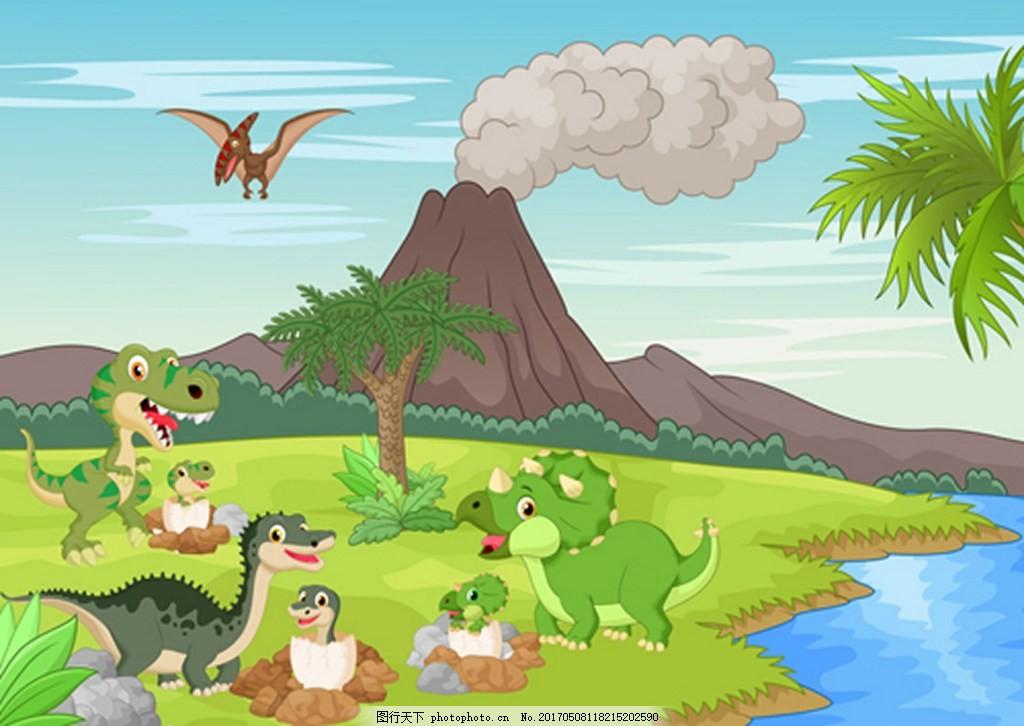 动物风景背景素材