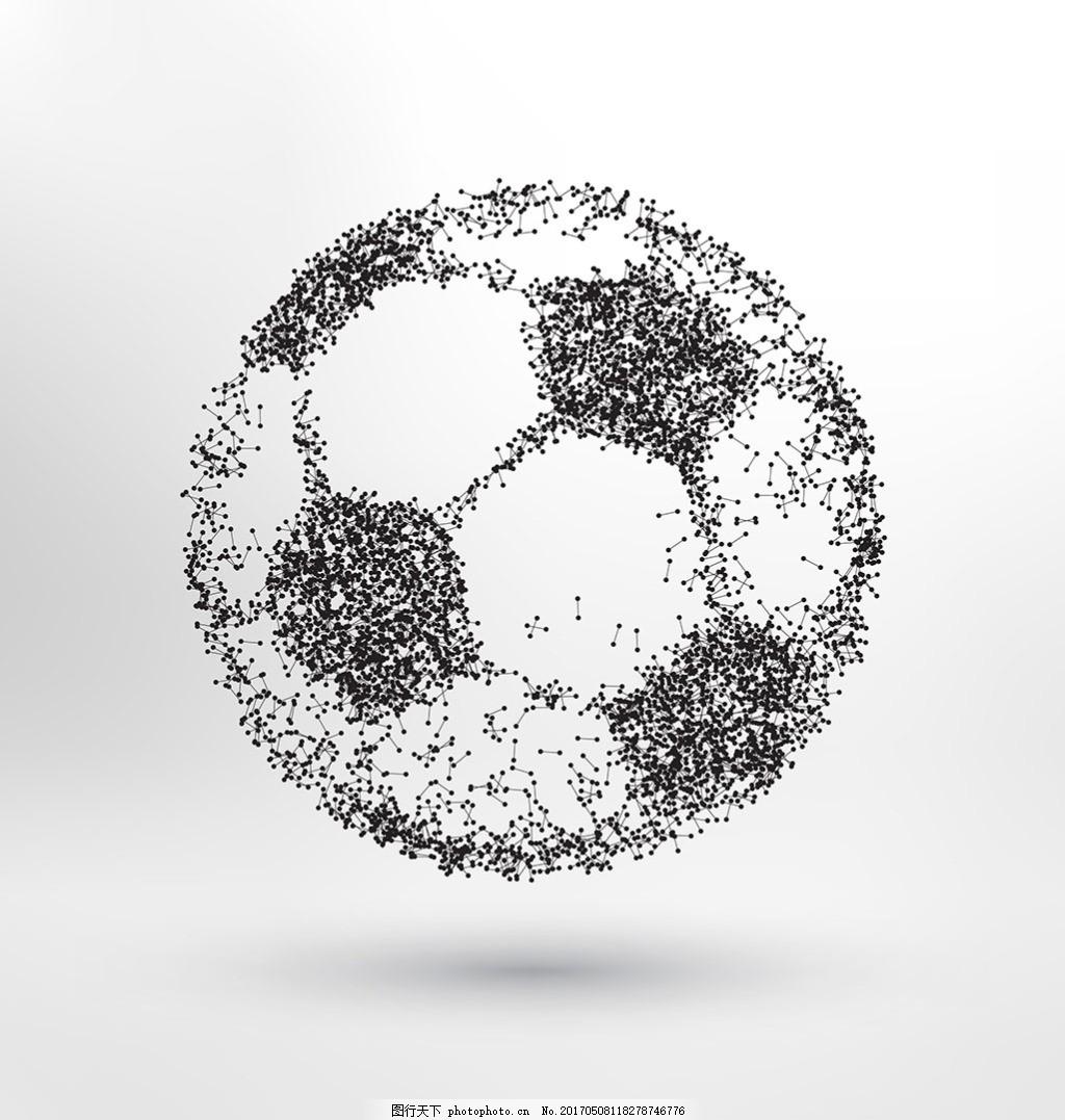手绘抽象足球插图